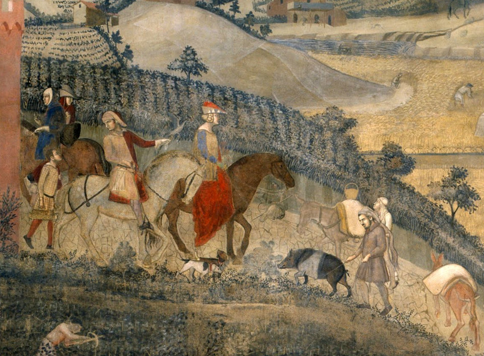 Ambrogio Lorenzetti's fresco. Photo from Wikimedia